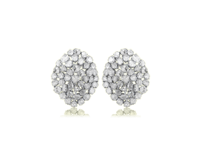 WHITE DIAMOND ROSE CUT TOPS IN 18K
