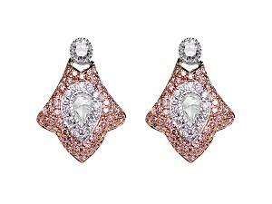 ROSE CUT & PINK DIAMOND EARRINGS