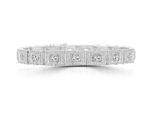 ROSE CUT DIAMOND STRETCH BRACELET IN 18K