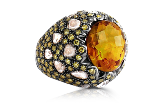 COCKTAIL RING  DIA CITRINE   IN 18K