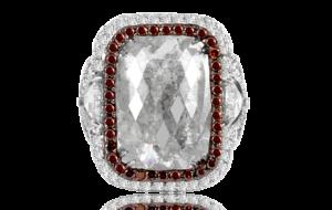 GREY DIAMOND SLICE RING IN 18K