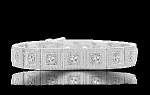 ROSE CUT DIAMOND STRETCH BRACELET IN 18K
